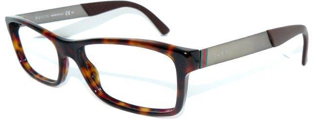 gucci brille gg 1054 bcr braun titan luxus gestell nerd. Black Bedroom Furniture Sets. Home Design Ideas