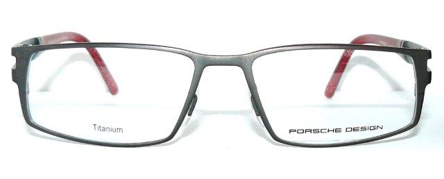 porsche design 8155 d brille titanium grau rot 8156 herren. Black Bedroom Furniture Sets. Home Design Ideas
