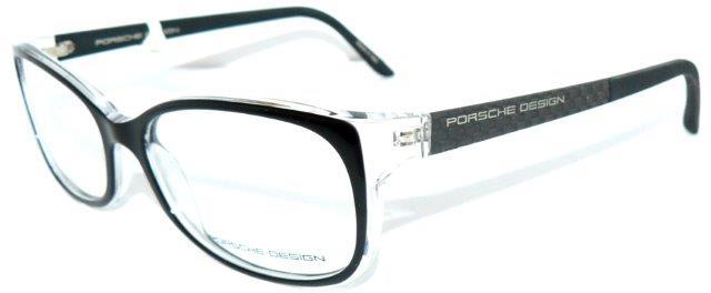 porsche design 8247 a brille schwarz klar carbon tech 8243. Black Bedroom Furniture Sets. Home Design Ideas